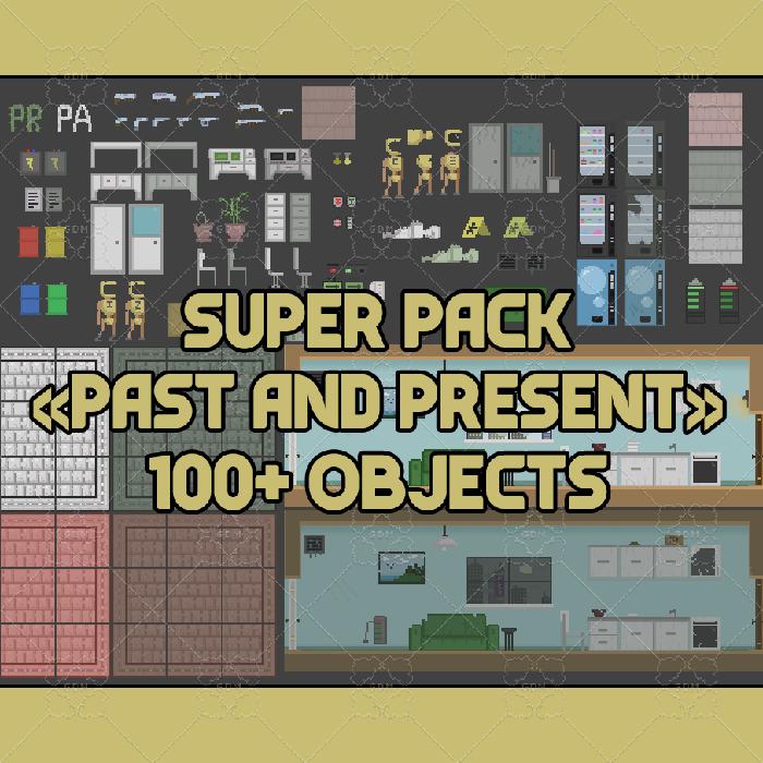 "Pixel set ""Past and present"" (100+)"