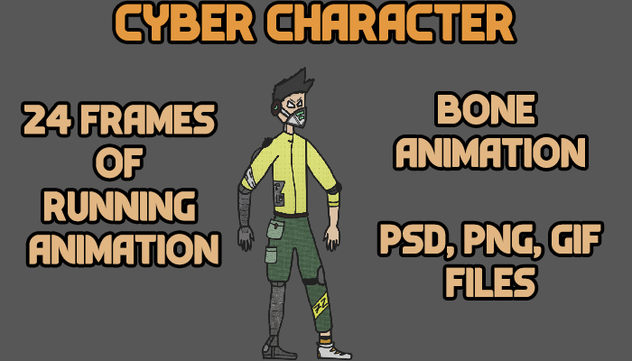 Cyber Character (Bone animation)