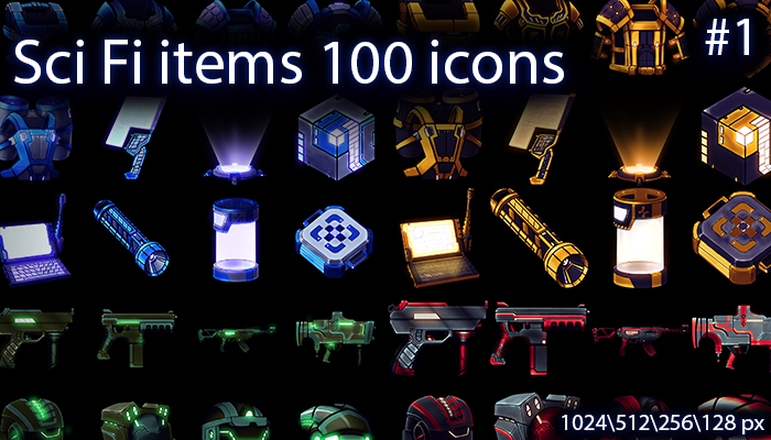 Sci fi items icons