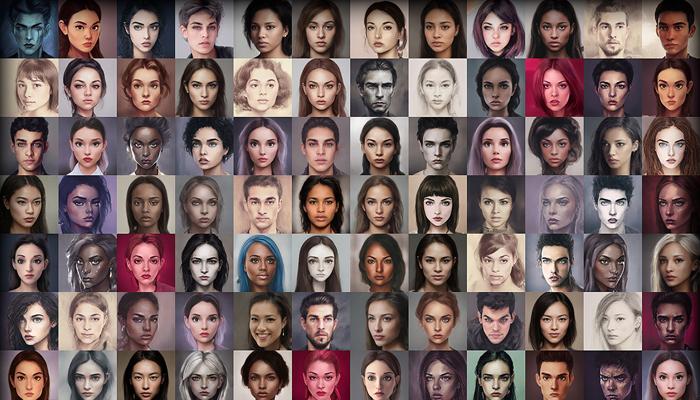 Character Portrait Mega Pack #1 • 1300+ hi-res portraits!