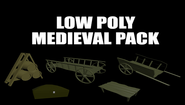 Low Poly Medieval Prop Pack