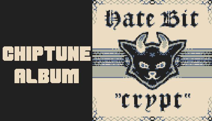 "Chiptune album ""CRYPT"" by HateBit"