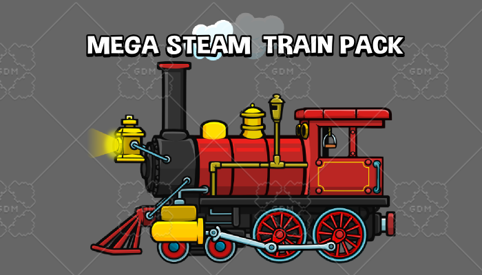 Mega steam engine game asset pack