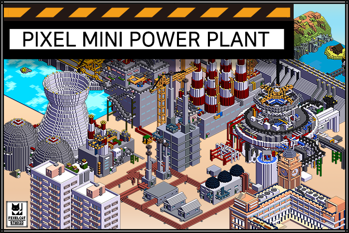 High resolution pixel mini power plant
