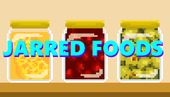 Jarred Food || Pixel Game Asset Pack