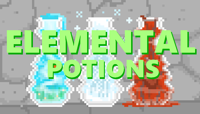 Elemental Potions || 2D Pixel Game Asset Pack