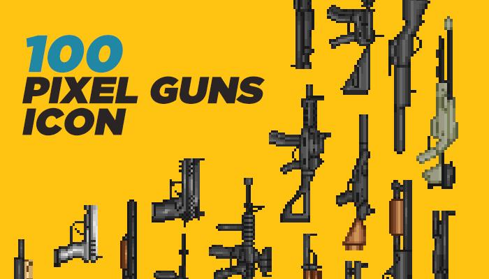 100 Pixel Guns Icons