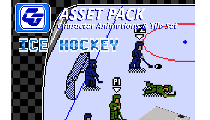 Asset Pack 'Ice Hockey' NES