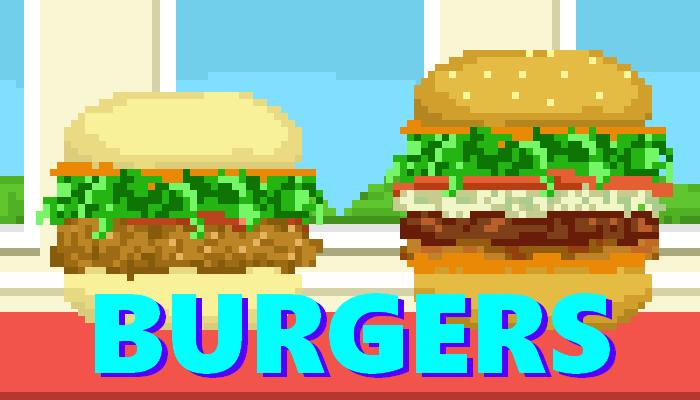 Gourmet Burgers    2D Pixel Asset Pack