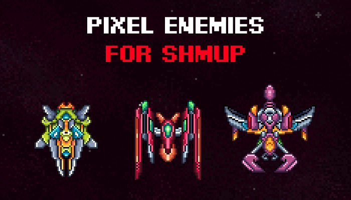 Pixel Enemies for SHMUP