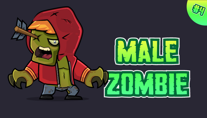 Male Zombie Character Sprites 04