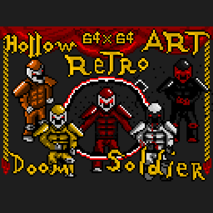 Hollow Retro Art – Doom Soldier