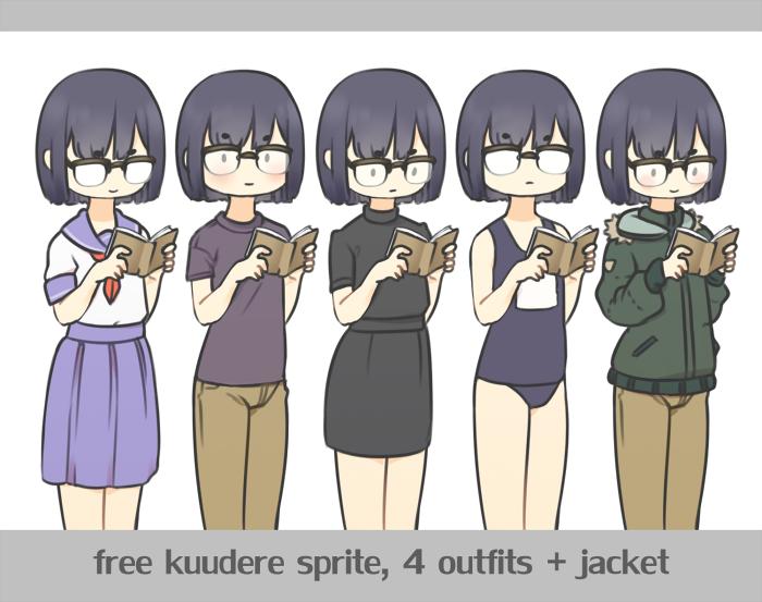 Kuudere Visual novel Sprite