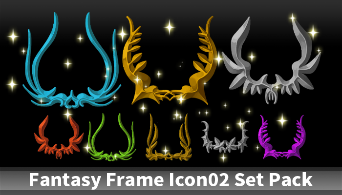 Fantasy Frame Icon02 Set Pack
