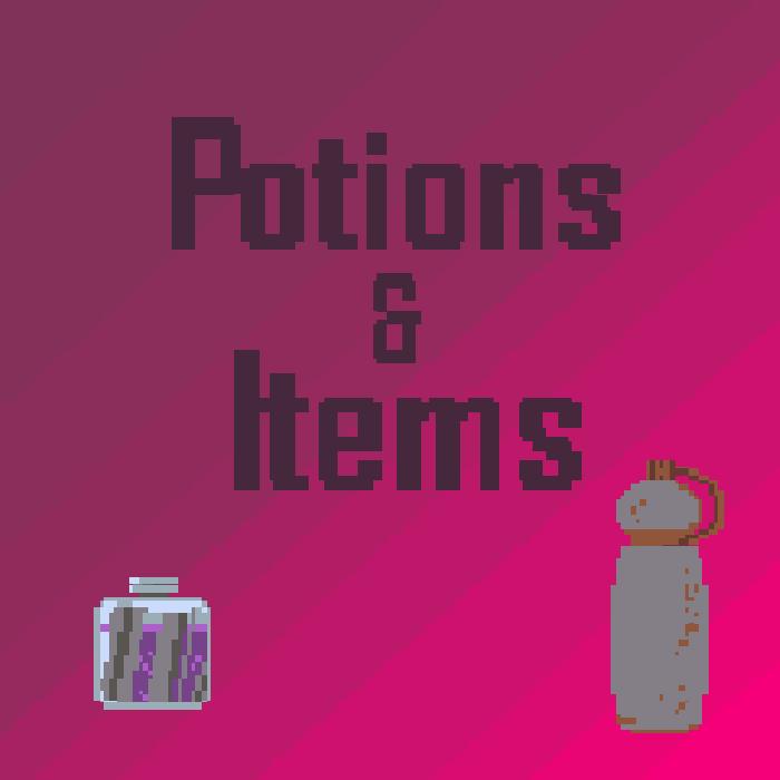 2D Items & Potions sprites