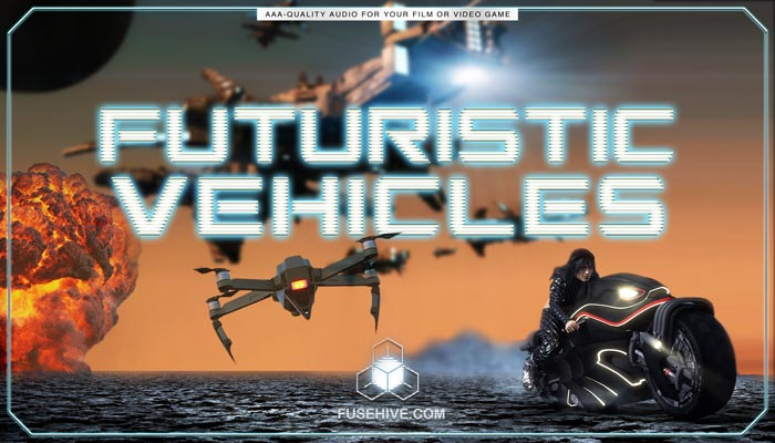 Sci Fi Futuristic War Vehicles Sound Effects Library – Spaceships Shuttles Fighters Space Stations