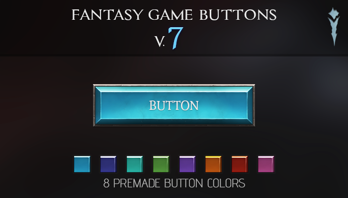 Fantasy Game Buttons V.7