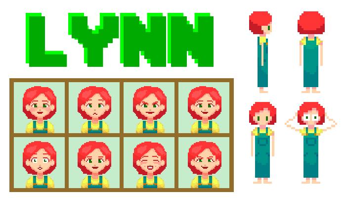 Lynn Character || 2D Pixel Assets