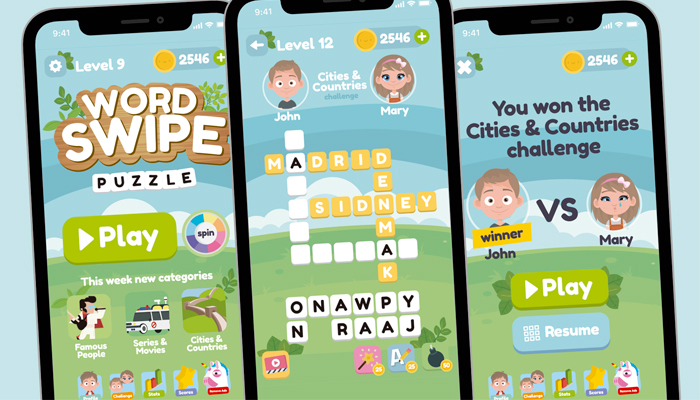 Word Swipe Game Gui Assets