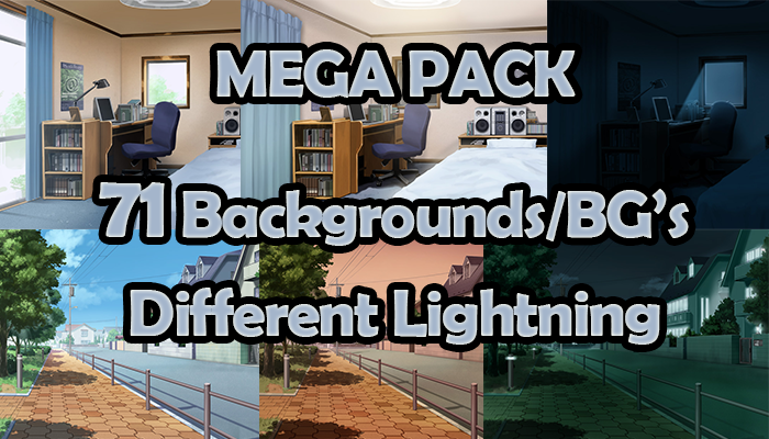 71 Backgrounds – Narrative Game – MEGA PACK