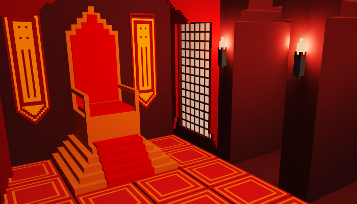 3D small throne room