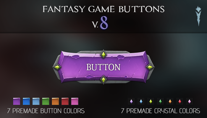 Fantasy Game Buttons V.8