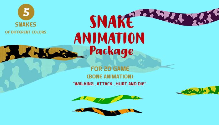 Snake 2D Animation (Bone Animation)