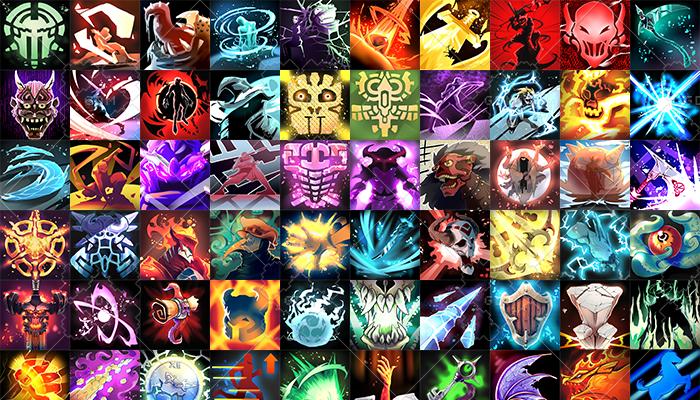 RPG MOBA skill icons 100
