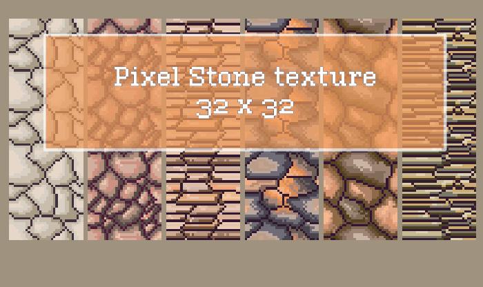 Pixel Stone Texture 32×32
