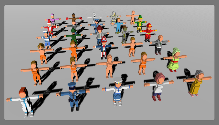 Voxel Characters Pack