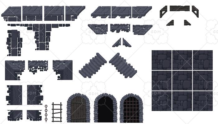 Dungeon/Custle Platformer Asset