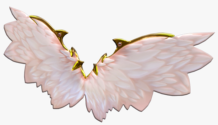 Animated Low Poly Fairy Angel Wings