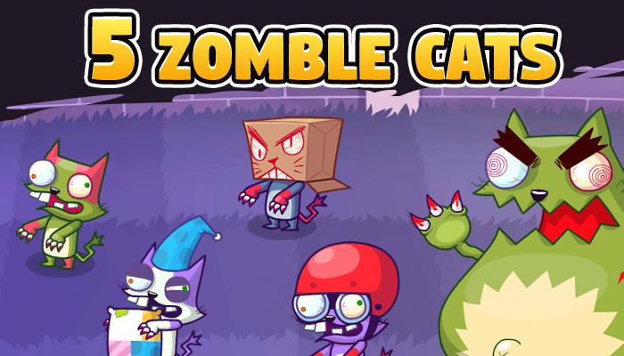 5 Zombie Cats