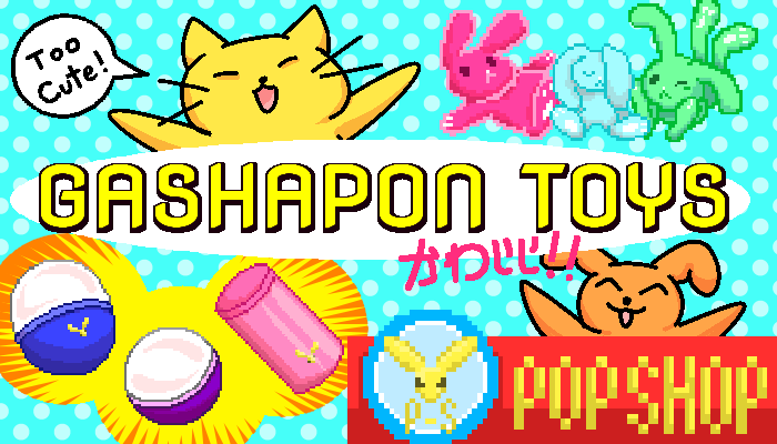 Gashapon Toys and Capsules || 2D Pixel Asset Pack
