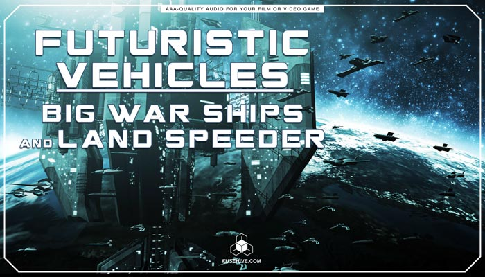 Futuristic Big Space Ships, Speeder Motorbike Sound Effects Library – Spaceship Vehicles MINI PACK