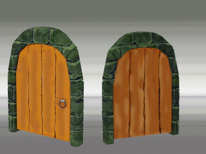 Stylized Dungeon Door
