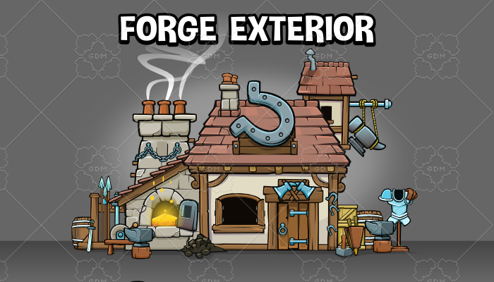 Forge exterior 2d game scene creation pack