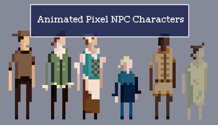 11 Animated Pixel NPC Characters