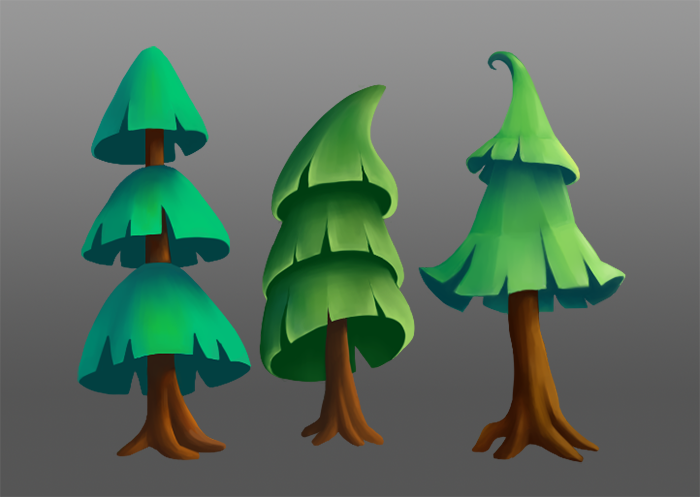 Mini pack 2D Trees