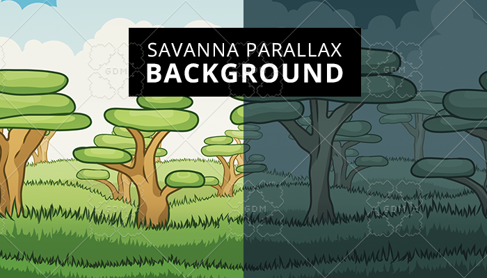 Savanna Parallax Background
