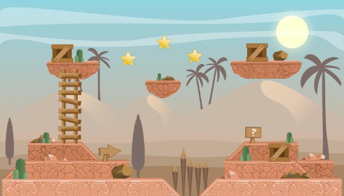 """TileSEt PLATFORMER GAME PACK 2D """"DESERT"""""""