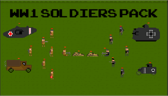 WW1 Soldiers   2D Pixel Art Pack