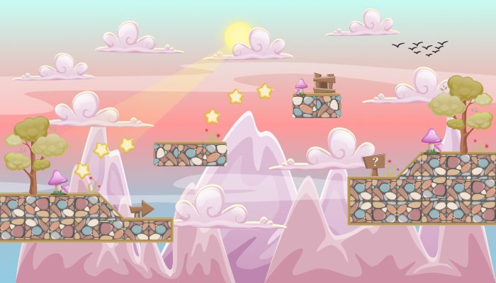 "TileSet PLATFORMER GAME PACK 2D ""FAIRY AIR"""