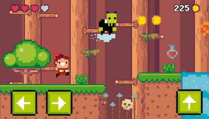 Pixel Adventure Platformer Game UI