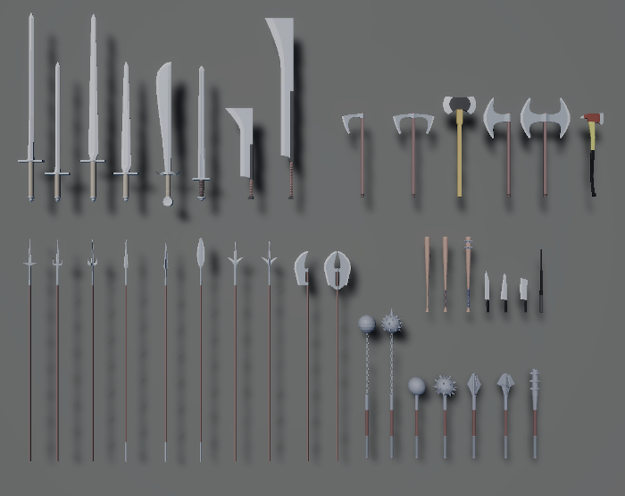 Melee Weapons Pack 1
