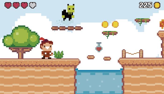Desert Adventure Pixel Platformer Tileset