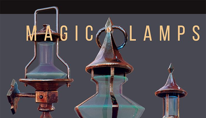 Magic Lamps Low-poly