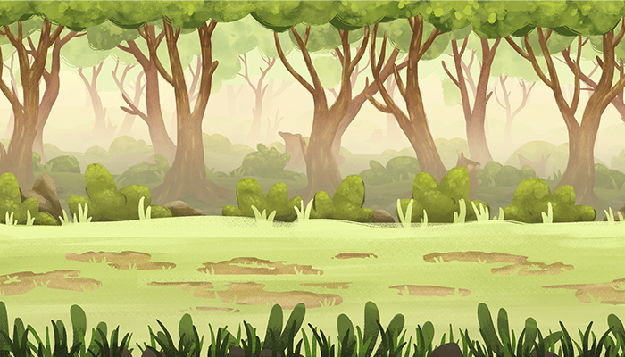 PARALLAX FOREST Game BACKGROUND