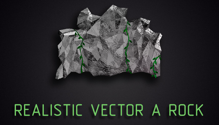 Realistic Vector a rock