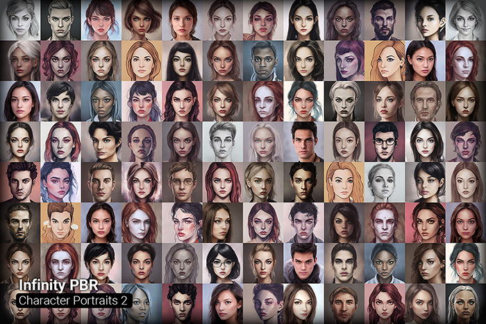 Character Portrait Mega Pack #2 • 1600+ hi-res portraits!